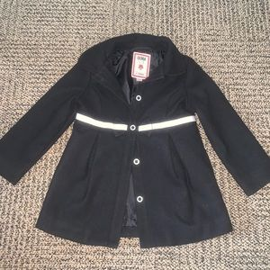 Girls black button up Peacoat size 4/5